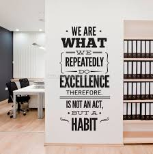 wall art office. Office Wall Art Quotes Excellence Decor Sticker E