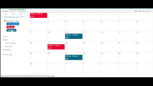 how to create color coded calendar in sharepoint 2016