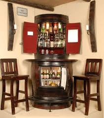 corner bar furniture. oakly corner liquor cabinet with bar fridge and two stools furniture i