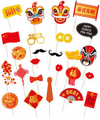 People in some other asian countries like malaysia, singapore, philippines… 2021 date Chinese New Year 310gsm Art Card Cut Out Happy Chinese New Year 2021 Photobooth Props 25 Designs Diy Kit Give Fun