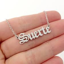 <b>Custom</b> Name Necklace- <b>Old English</b> Font – <b>Engraved</b> Giftsly