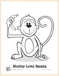 Small Picture Monkey Loves Banana Free Printable Coloring Page