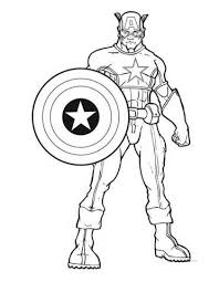 Captain America Coloring Pages Vlachikameteoinfo