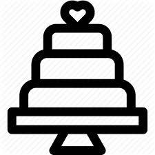 Cake Couple Heart Love Outline Wedding Wedding Cake Icon