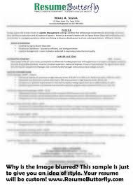 Resume Sample From Scratch Resume Butterfly Need A Resume