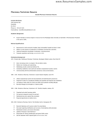 Pharmacy Technician Resume Objective Pretty Sample Resume For Amazing Objective On Resume For Pharmacy Technician