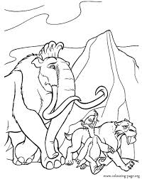 Small Picture Ice Age Manny Sid and Diego travelling coloring page