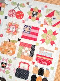 My finished Farm Girl Vintage Sampler Quilt | A Quilt - Bee in My ... & Farm Girl Vintage Sew Along: The Quilt is Done! Adamdwight.com