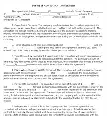 Free Printable Business Consultant Agreement - Printable Agreements