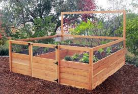 garden bed kit. Raised Garden Plans Elevated Raisedbeds Com 8x8 Gated Kit Bed L