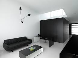 minimalist living room furniture. Minimalist Living Room Furniture Home Office Modern With Black And White. Image By: Ian Moore Architects