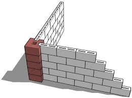 Cmu Wall Concrete Masonry M4 Wall Pillar Corner Block From