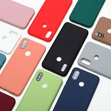<b>Candy Color Silicone TPU</b> Matte Cases For Xiaomi Redmi Mi A3 ...