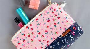 diy cosmetic zipper pouch weallsew