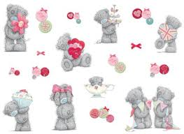 get quotations tatty teddy bear girls nursery and bedroom wall decals pink grey on teddy bear wall art for nursery with cheap nursery teacher qualifications find nursery teacher
