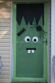 ... Good Looking Idea For Halloween Door Decoration Idea : Extraordinary  Front Porch Design And Decoration Using ...