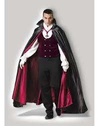 Adult Costumes Source · Costume Vampire The Count Dracula Hire Halloween  Rent Mens Fancy Dress