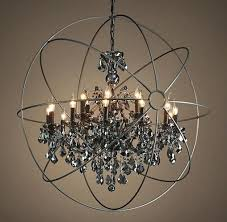 chandeliers smoke crystal chandelier restoration hardware orb inside excellent knock off grey cryst