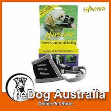 Husher Elastic Dog Training Muzzle Dog Bark Control Barking Biting Chewing Ebay