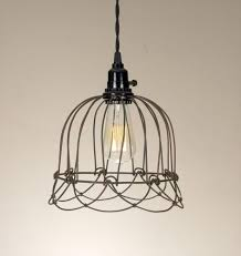 no wiring lighting. Small Wire Bell Pendant Lamp. No Wiring Necessary. Lighting