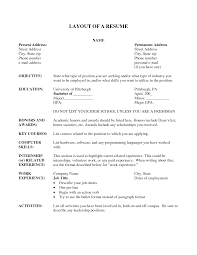 The Layout Of A Resume Free Resume Example And Writing Download