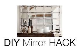 Pottery Barn Mirrored Furniture Diy Beveled Mirror Pottery Barn Mirror Hack Youtube