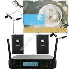 <b>MICWL</b> UHF Wireless Radio 2 <b>Tie Clip</b> Lavalier Lapel Microphone ...