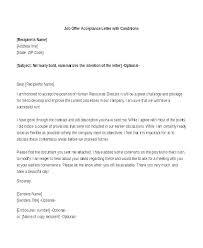 Offer Letter Acceptance Mail Format Job Offer Acceptance Letter Template