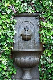 outdoor water fountain wall design