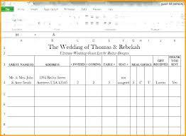 Excel Guest List Wedding Guest List Template Excel Download Tailoredswift Co