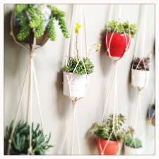 60 cotton rope plant hanger double by indieandarrow on etsy
