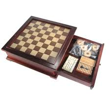Wooden Board Game Sets 10000 in 100 Wooden MultiGame Chess Set 13