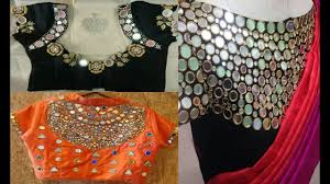 Different Types Of Blouse Back Neck Designs 2016 Blouse Back Neck Designs With Simple Stone Work Tissino