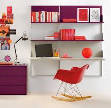 Kids Room Design: Purple White Kids Bedroom - Shelving