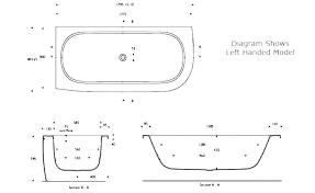 tub shower dimensions standard size bathtub medium of stupendous cm feet bathroom door corner 5 foot