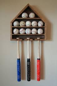 baseball display ball and mini bat wall