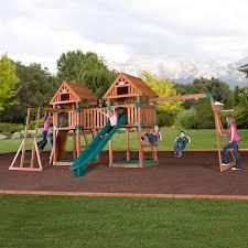 com backyard discovery kings peak all cedar wood playset com backyard discovery kings peak all cedar wood playset swing set toys