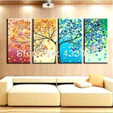 colorful artwork canvas abstract wall decorations hand painted season abstract tree painting colorful wall art canvas picture 4 modern home decor abstract  on colorful wall art canvas with colorful artwork canvas abstract wall decorations hand painted