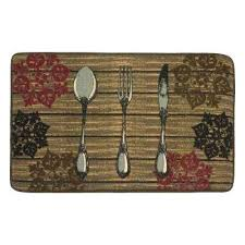 best non slip kitchen rugs printed rug nylon machine washable pad mats rustic utensils chef gear