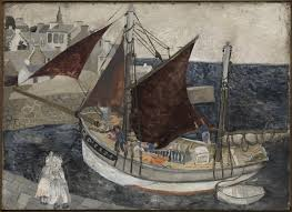 boat in harbour brittany