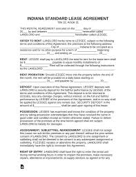 Free Printable Lease Agreement Indiana Download Them And Try To Solve