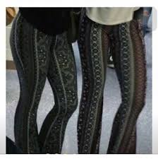 Flare Pants Pattern Enchanting Leggings Flare Pants Pattern Tribal Pattern Tight Long Wheretoget