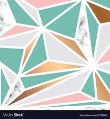 Geometric Shapes For Design Marble Texture Design With Golden Geometric Shapes
