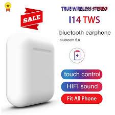 Original i14 TWS Blutooth Earphone Mini Wireless Earbuds Stereo ...