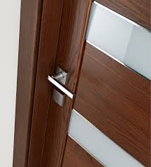 contemporary interior door designs. Furniture And Accessories Cool Ideas Of Contemporary Interior Chrome Door Handle Lock Featuring Varnished Wood. Designs