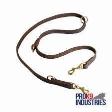 multifunctional leather dog leash
