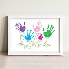 personalised handprint art keepsake frame with multiple prints