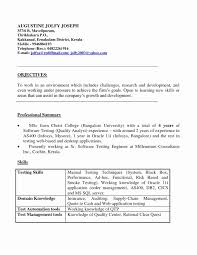 Software Testing Resume Format For Experienced Inspirational