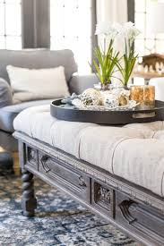 diy ottoman bench from a repurposed coffee table blesser house or for sectional 6 vs and