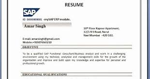 sap bi sample resume for 2 years experience inspirational mubashir